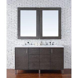 Cordie 60 Double American Walnut Bathroom Vanity Set by Orren Ellis