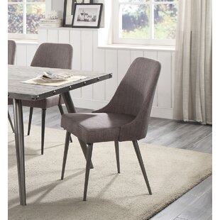 Sunray Upholstered Dining Chair (Set of 2) Everly Quinn