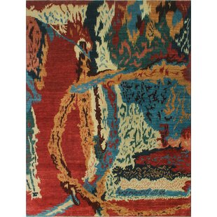Oneman Hand-Knotted Wool Ivory Area Rug ByWorld Menagerie