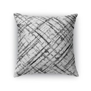 Watercolor Criss Cross Cotton Throw Pillow