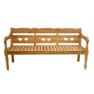 One Allium Way Proulx Teak Garden Bench