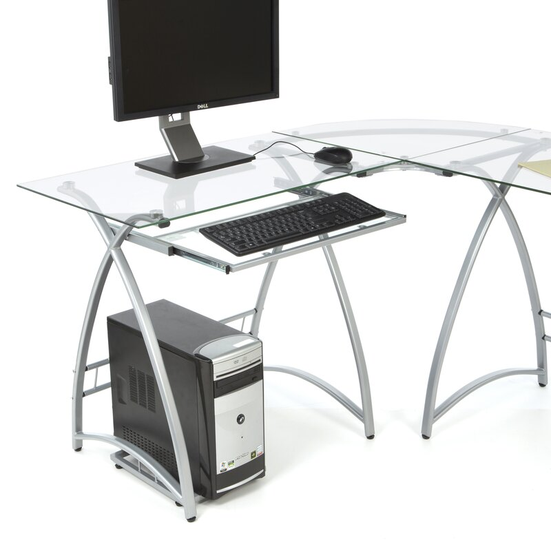 Cloer L Shaped Metal Computer Desk