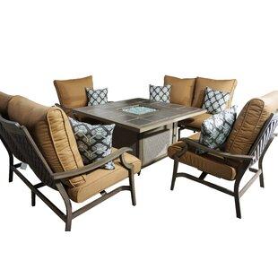 Red Barrel Studio Feng 5 Piece Deep Sunbrella Conversation Set With Cushions