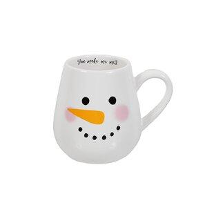 Snowman Face Mug (Set of 4)