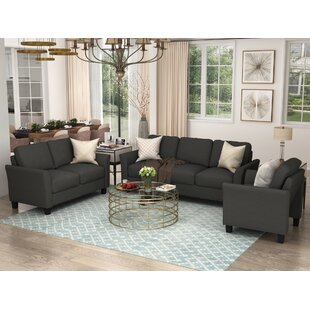Atarah 3 Pieces Standard Living Room Set by Red Barrel Studio