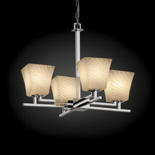 World Menagerie Bissett 4-Light Shaded Chandelier