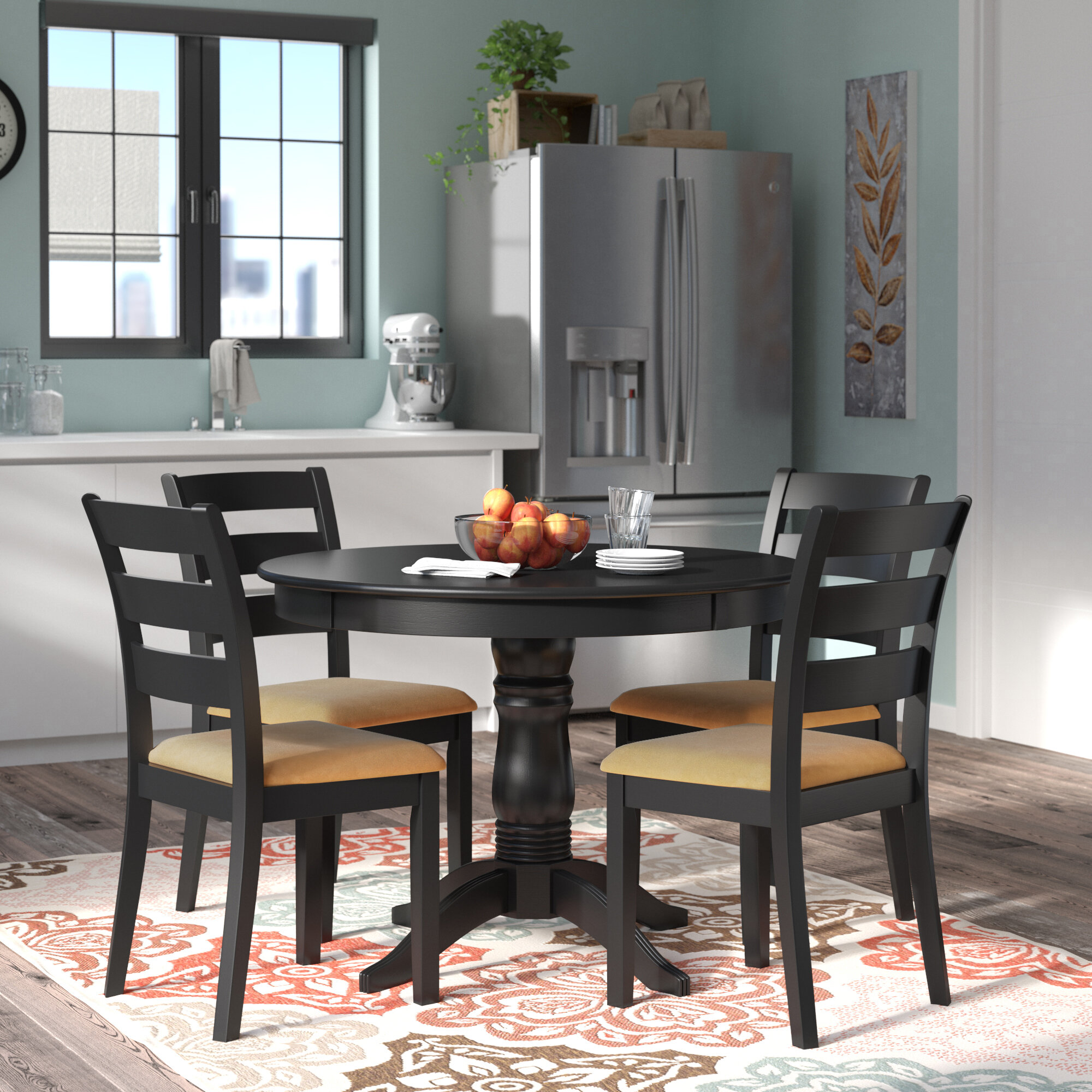 Admirable Oneill 5 Piece Ladder Back Dining Set Beutiful Home Inspiration Cosmmahrainfo