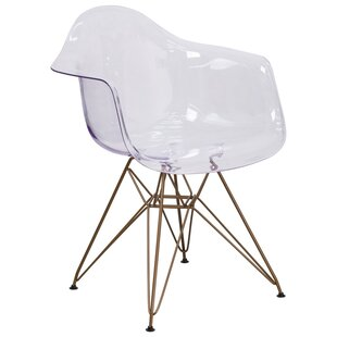 Curved Transparent Arm Chair (Set of 2) by Alston