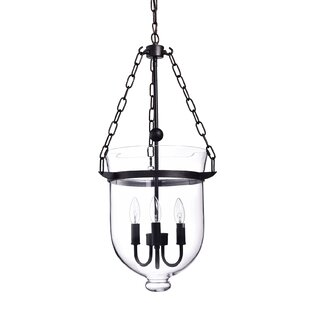 Levan Glass 3-Light Urn Pendant by Gracie Oaks