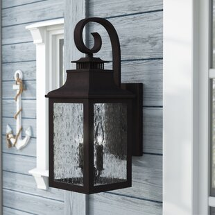 Price comparison Wolcott 2-Light LED Outdoor Wall Lantern By Breakwater Bay