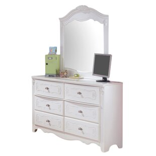 Emma 6 Drawer Double Dresser with Mirror