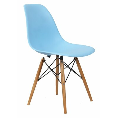 AdecoTrading Patio Dining Chair Finish: Light Blue