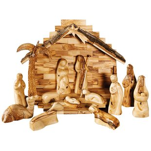 Wooden Nativity Stable Wayfair