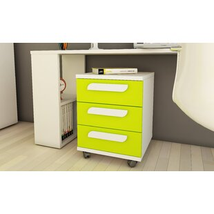 Claudine 3-Drawer Mobile Vertical File By 17 Stories