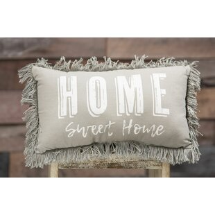 Lunado Home Sweet Home Cotton Lumbar Pillow