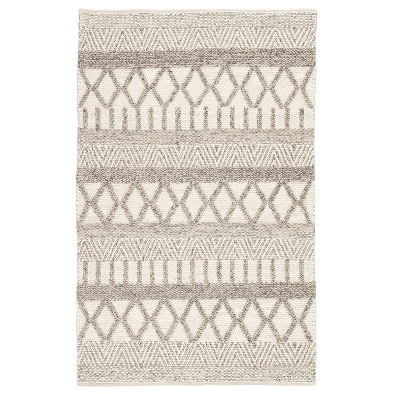 Joss Main Alysha Southwestern Handmade Flatweave Ivory Gray Area Rug Reviews Wayfair