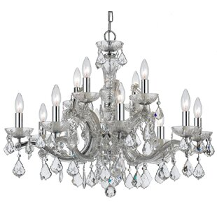 Catchings 12-Light Crystal Chandelier by House of Hampton