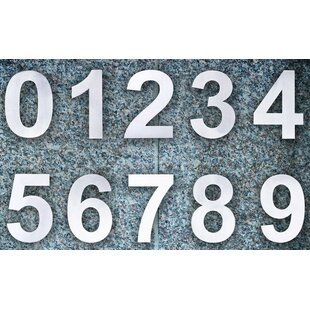 Floating Mount House Number And Letter