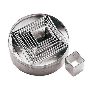 Square Plain Dough Cutters Set (Set of 2)