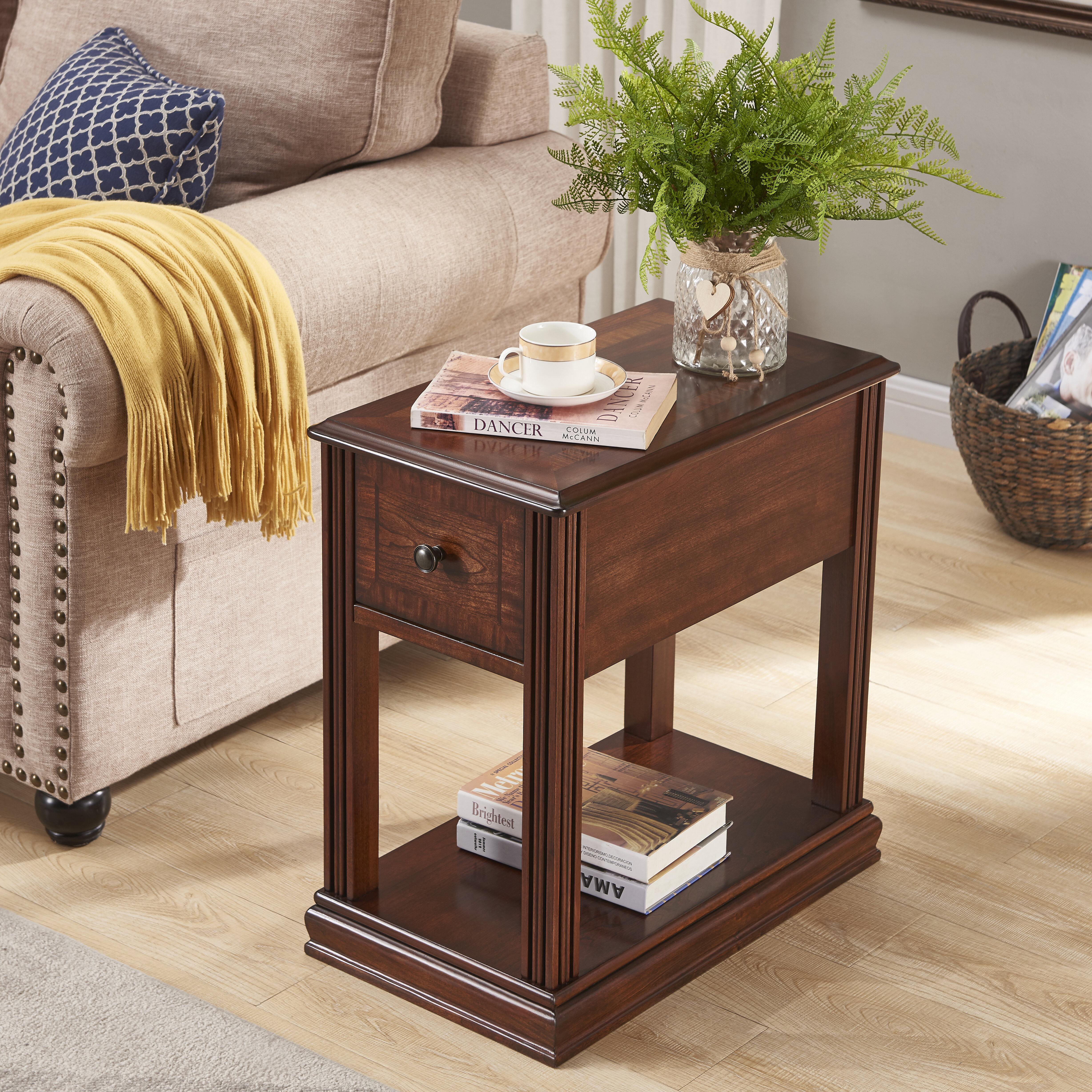 Canora Grey Rutledge End Table With Storage Reviews Wayfair