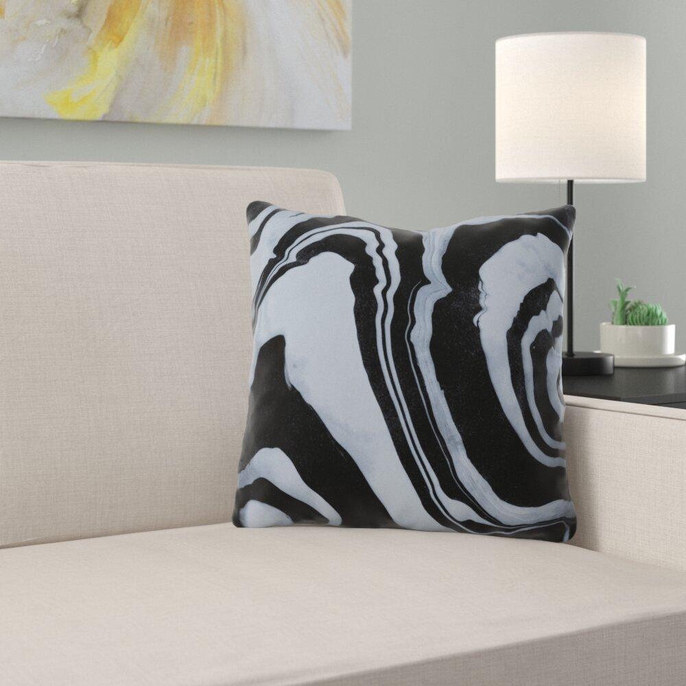 East Urban Home Susanne Kasielke Marble Structure Outdoor Throw Pillow Wayfair