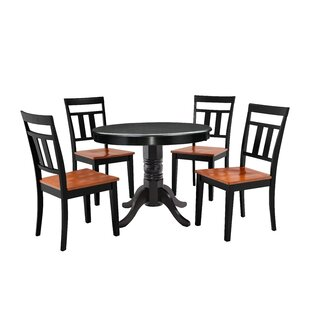 Nixon 5 Piece Solid Wood Dining Set Millwood Pines