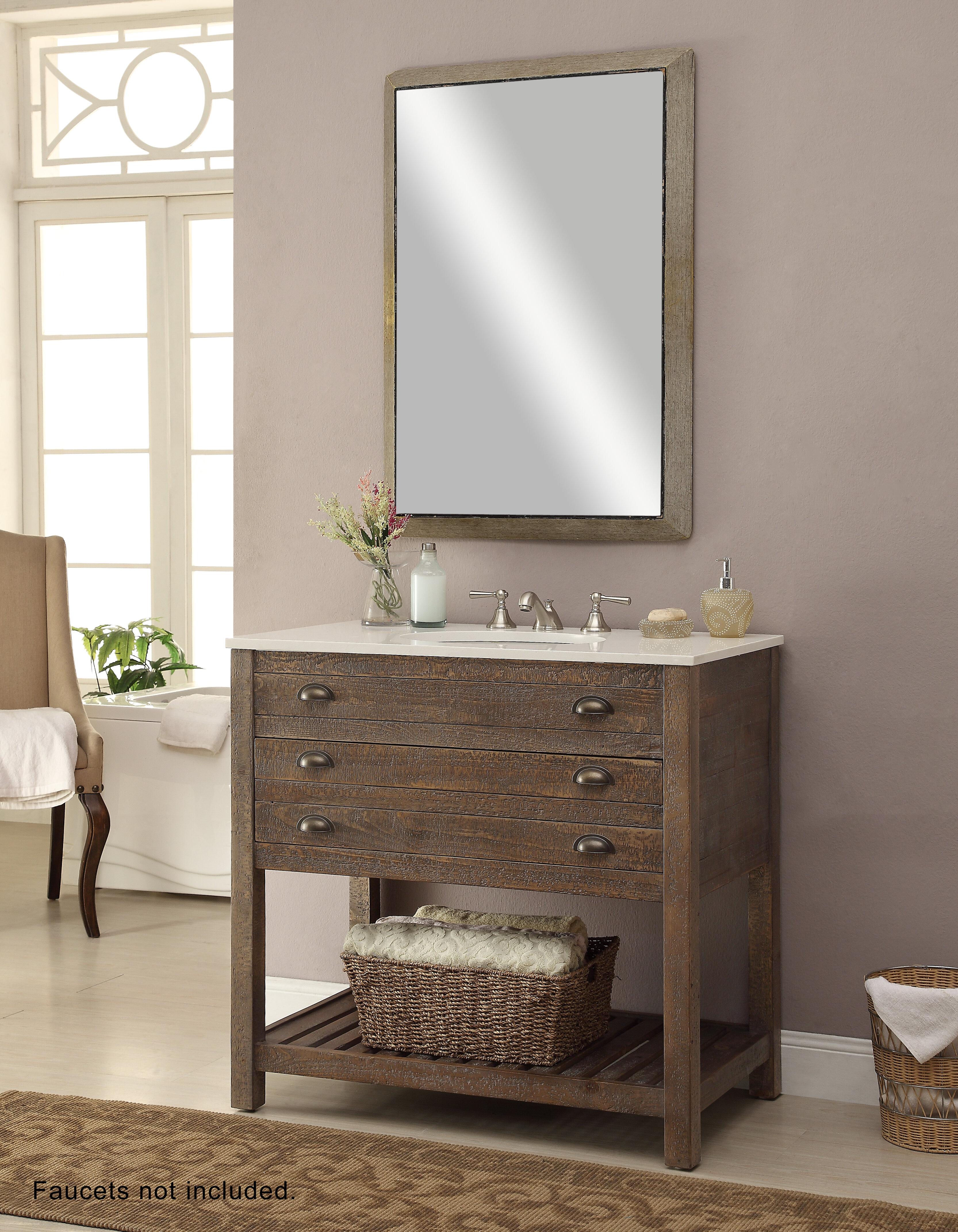 Laurel foundry modern farmhouse russell 36 single sink vanity set reviews wayfair