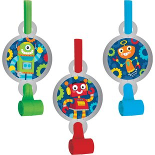 Robot Plastic/Paper Disposable Party Favor Set