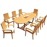 Weldon 9 Piece Teak Dining Set