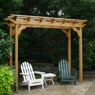 Cedar New Dawn 12 Ft. W x 4 Ft. D Solid Wood Pergola by Creekvine Designs