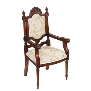 Salon des Rosiers Fabric Armchair by Design Toscano