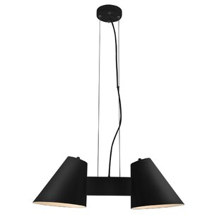 Perugia 2-Light Shaded Chandelier by Cocoweb