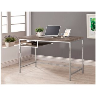 Bobek Sleek and Elegant Desk with Shelf