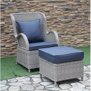 One Allium Way Silke Patio Chair with Cus..