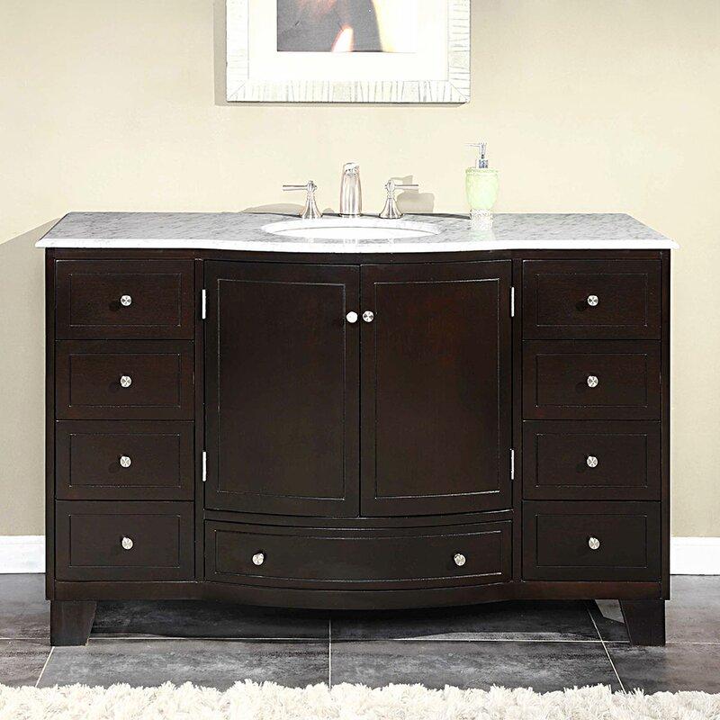 Silkroad Exclusive Naomi Single Bathroom Vanity Set Reviews - Bathroom vanities torrance