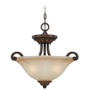 Fleur De Lis Living Charlestown 3-Light Bowl Pendant