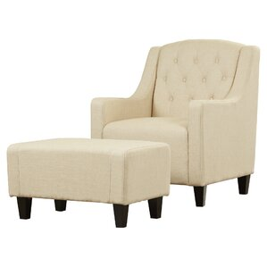 chair with ottoman. 2-piece bradley tufted arm chair \u0026 ottoman set with w