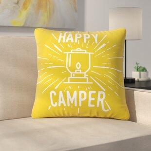 336e3e323b2 Happy Camper Throw Pillow