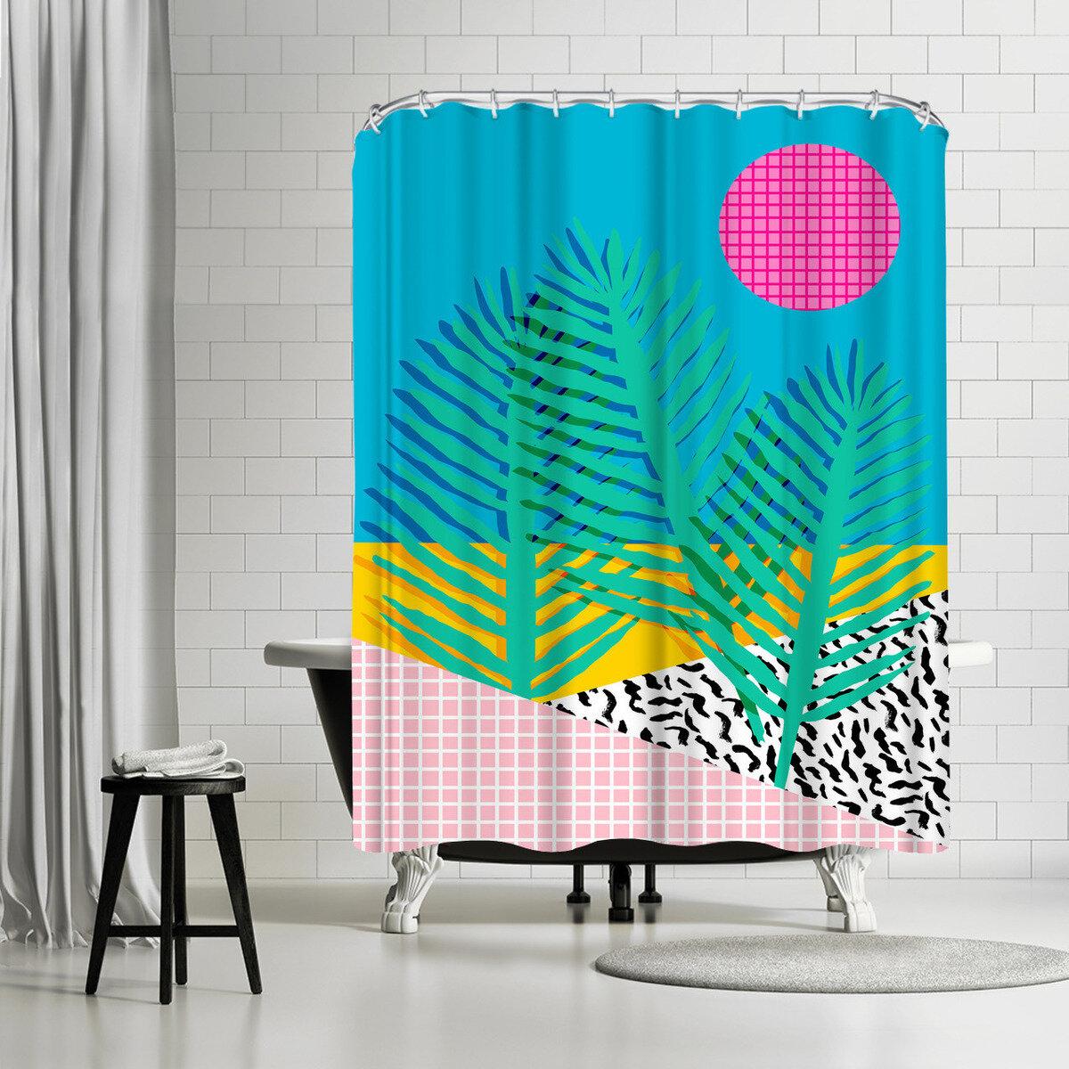 East Urban Home Wacka Designs Mondo Single Shower Curtain Wayfair