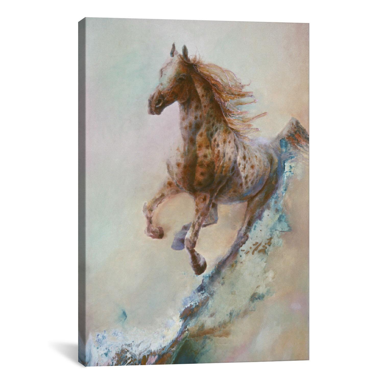 Loon Peak Appaloosa Run Running Horse Painting Print On Canvas Reviews