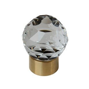 Diamond Cut Tulip Shaped Clear Cabinet Crystal Knob