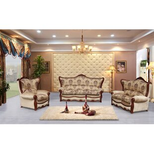 Astoria Grand Wadley 3 Piece Brown Emboss..