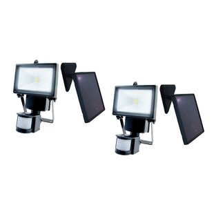 Nature Power LED Solar Power with Motion Sensor Outdoor Security Flood Light (Pack of 2) (Set of 2)