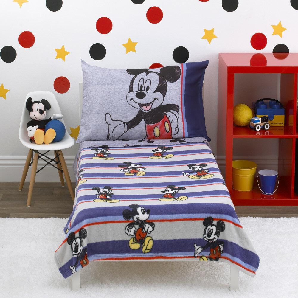 Disney Mickey Mouse 4 Piece Toddler Bedding Set Wayfair