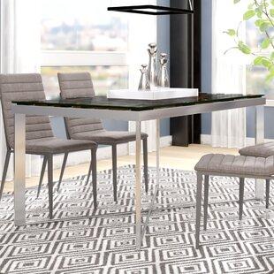 Marden Rectangular Wood Mosaic Dining Table by Wade Logan