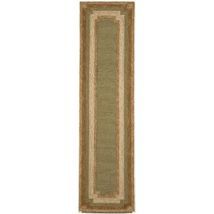 Dazey Hand-Tufted Green/Beige Indoor/Outdoor Area Rug by August Grove