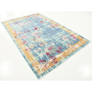 Center Blue Area Rug