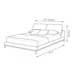 Contemporary Upholstered Platform Bed