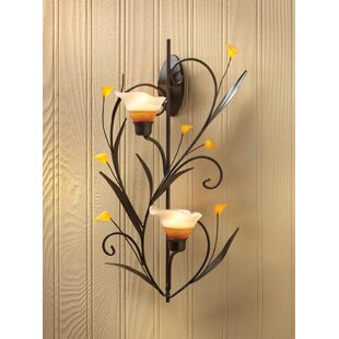 Two Lily Cups Iron Sconce