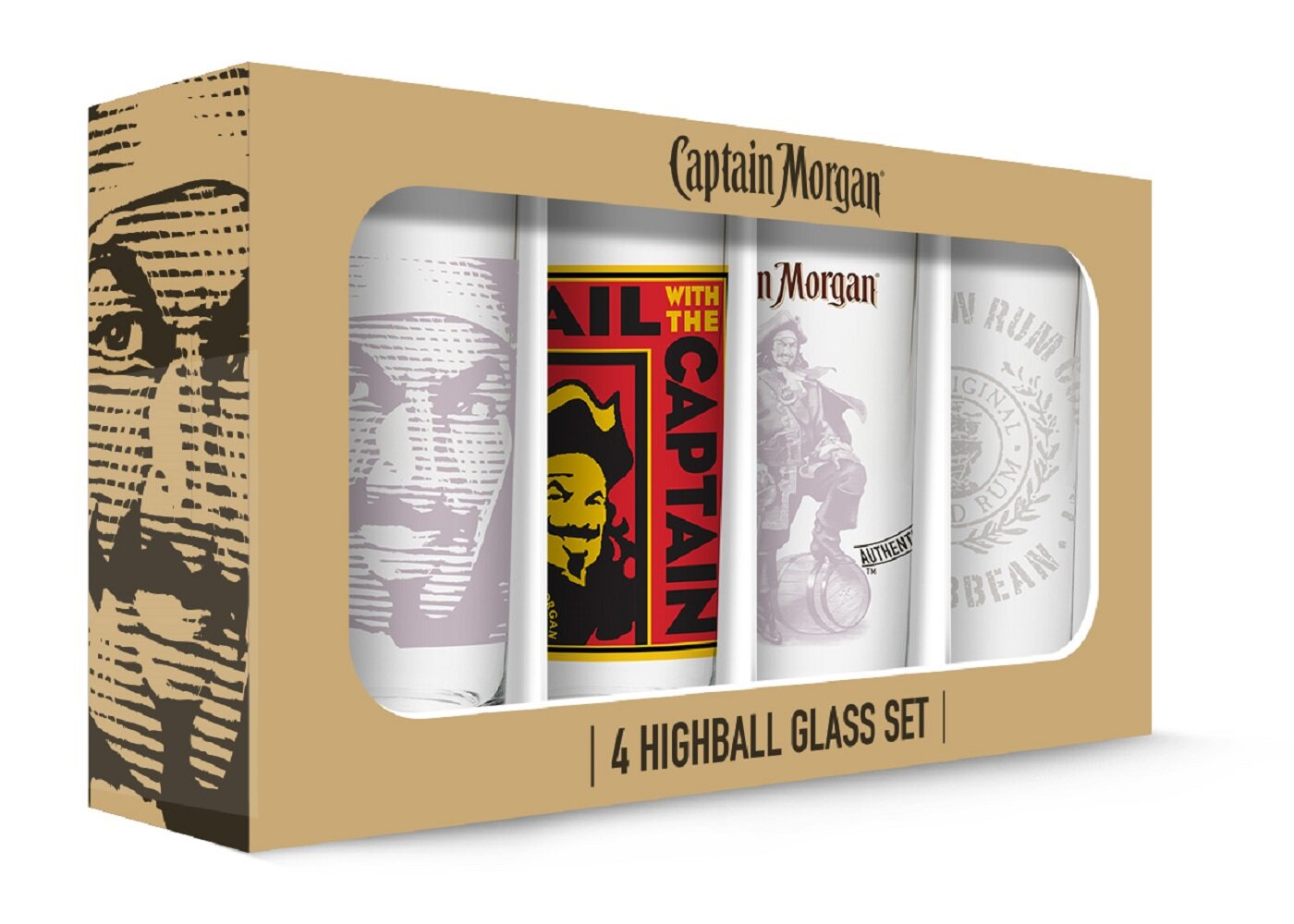 Pb Captain Morgan 4 Piece 16 Oz Highball Glass Set Wayfair